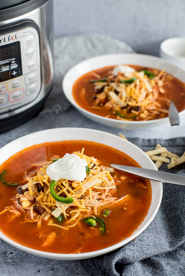 Instant Pot Spicy Chicken Soup