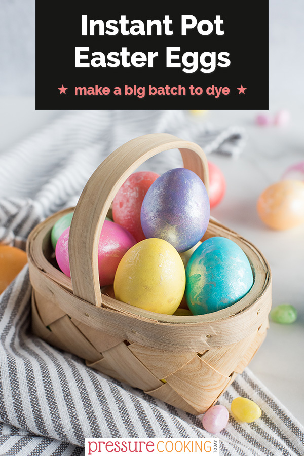 Everything you need to know to make a big batch of perfect Instant Pot / Pressure Cooker Hard-Boiled Eggs for Easter decorating. via @PressureCook2da