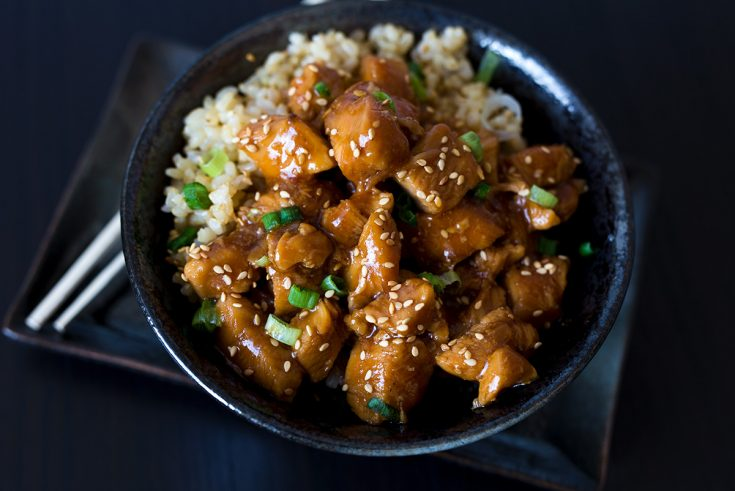 Instant Pot Honey Sesame Chicken Pressure Cooking Today