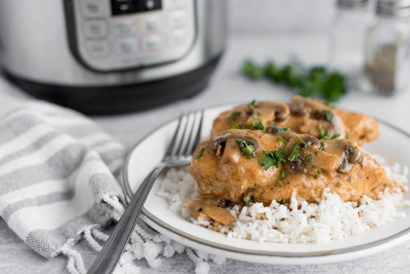 Instant Pot Chicken and Mushrooms